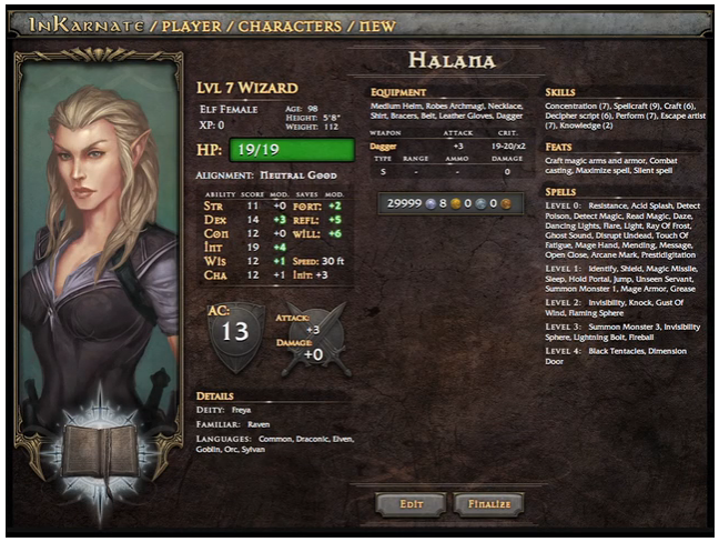 A new RPG Character Generator called - INKARNATE | Character