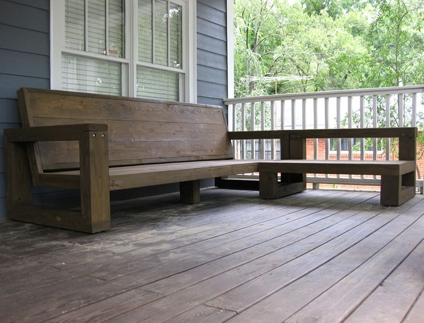 How To Build Outdoor Sectional Sofa Deck Ideas 2015 Pinterest
