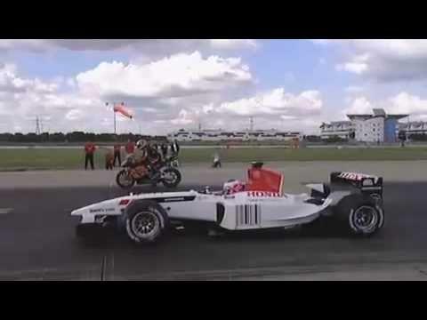 F1 Car Vs Motorbike Vs Power Boat Honda At Its Best Power