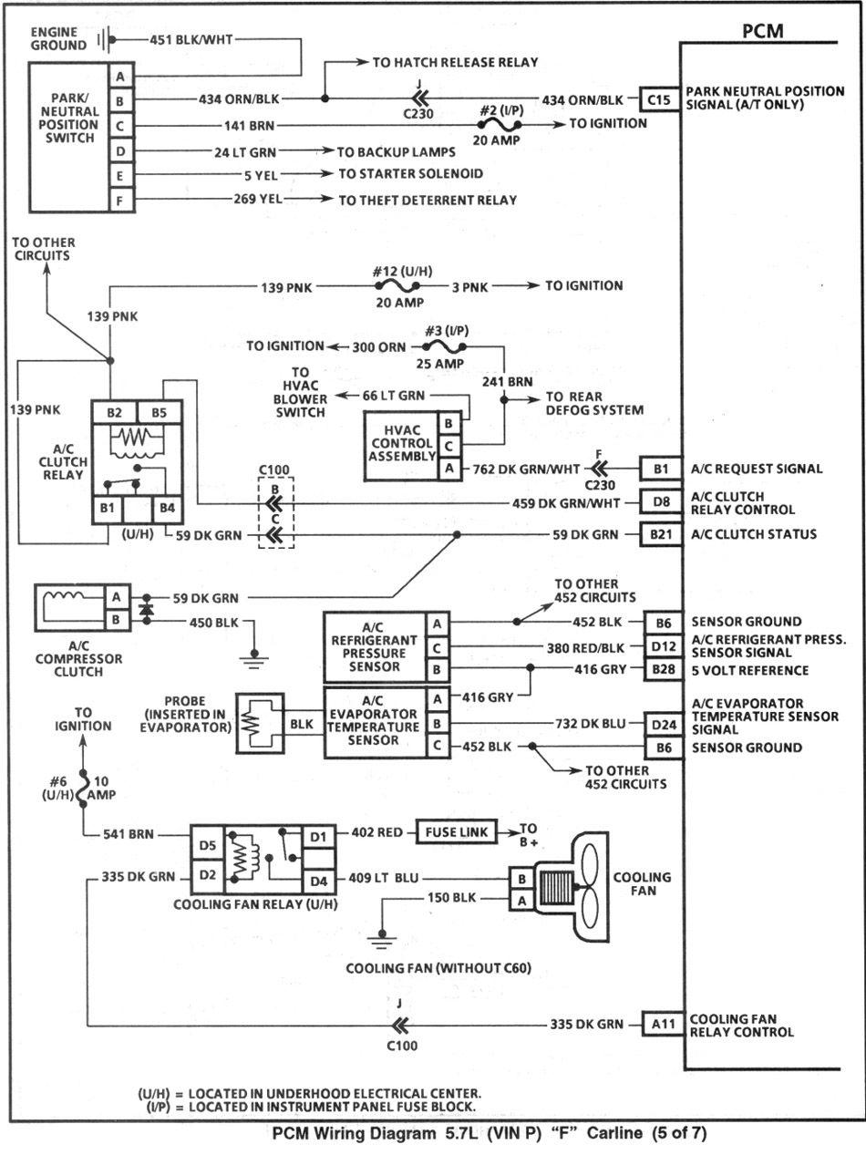 4th Gen Lt1 F Body Tech Articles Body Tech Safety Switch Diagram