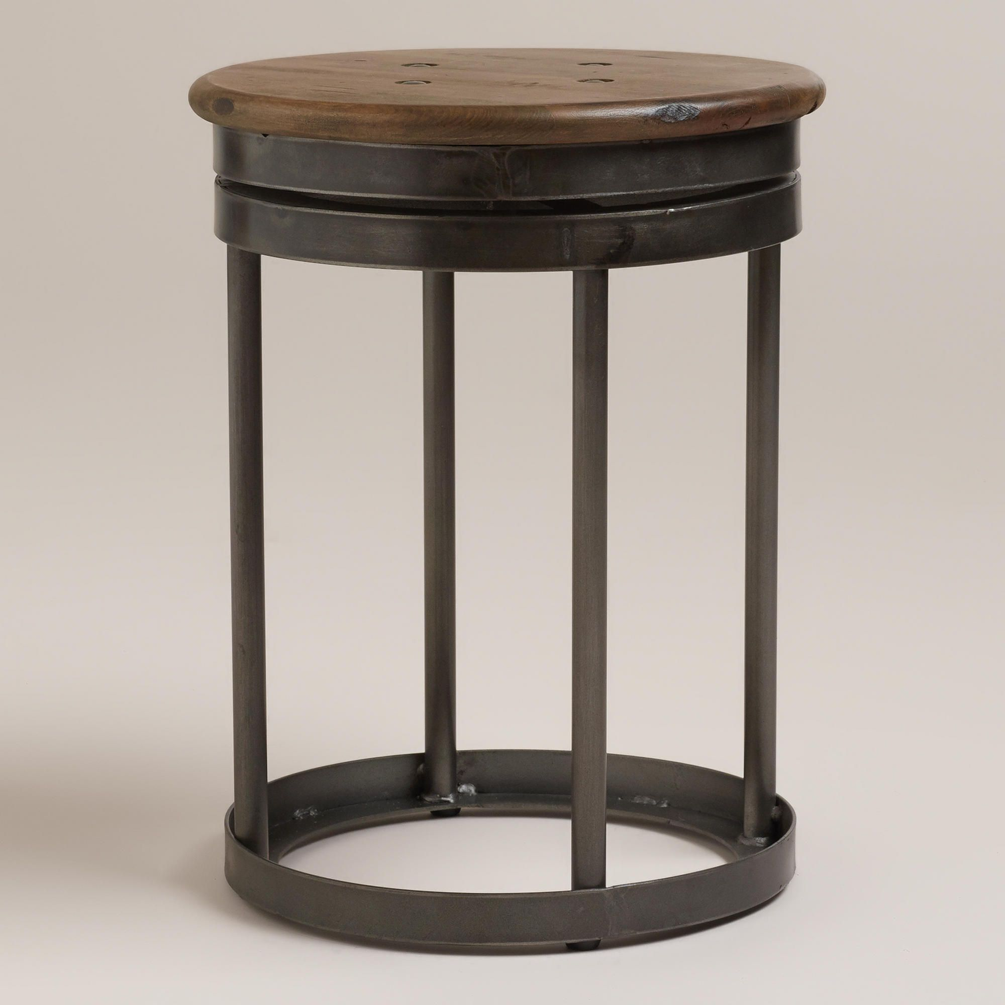 End table/stools | Tasting room designs | Pinterest