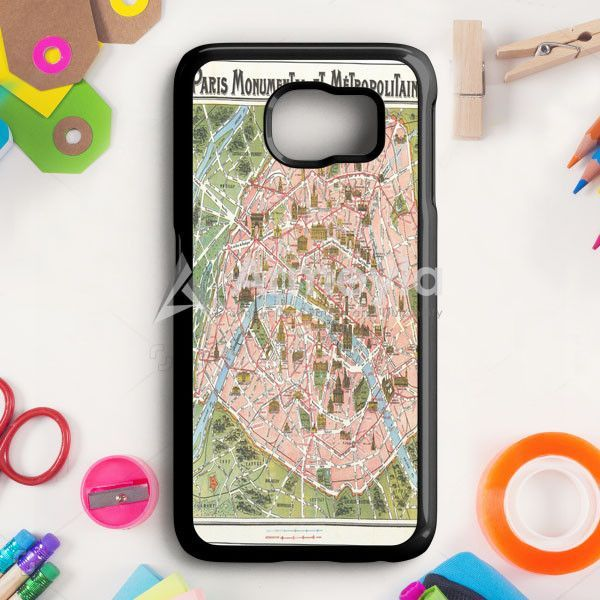 Paris Map Samsung Galaxy S6 Edge Plus Case | armeyla.com