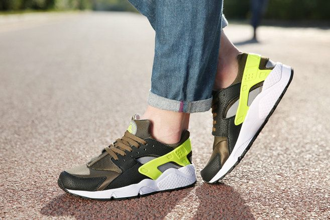 official photos 64327 fc2fa ... where can i buy nike air huarache black iron green army green on feet  fe042 35d41