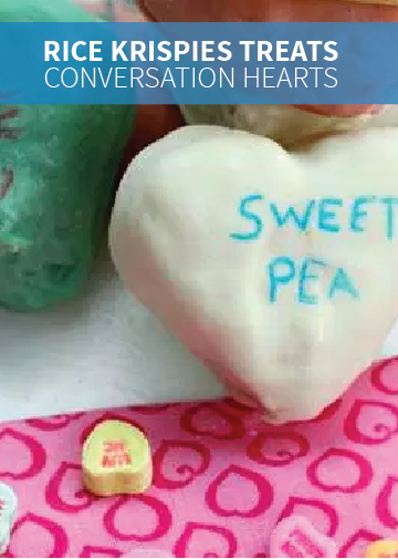 Conversation Hearts are a creative and tasty way to tell your friends and family you care. Give this Rice Krispies Treats® recipe a try for a fun homemade version you can make with the kids.