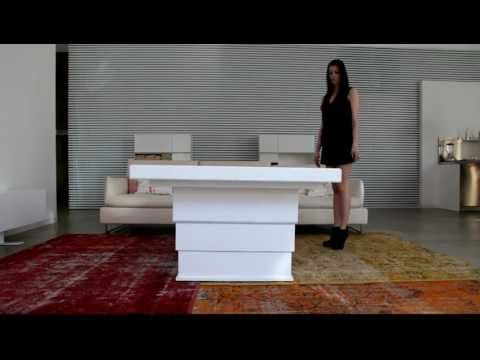 Mobili Trasformabili Tavolo.Mobili Trasformabili Ness Credenza Con Tavolo Youtube