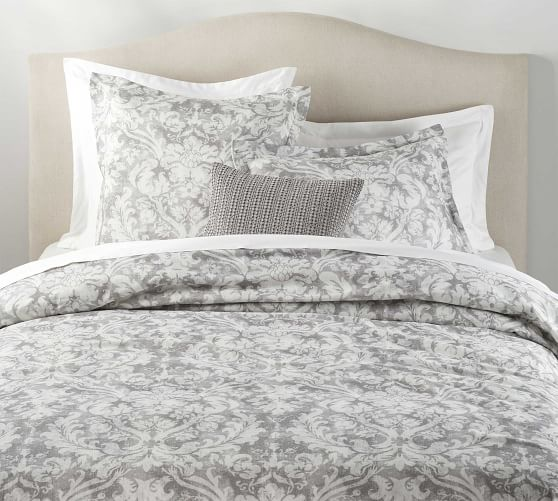 Talisa Printed Cotton Duvet Cover Shams Gray Duvet Covers Duvet Cover Pattern Gray Duvet Cover
