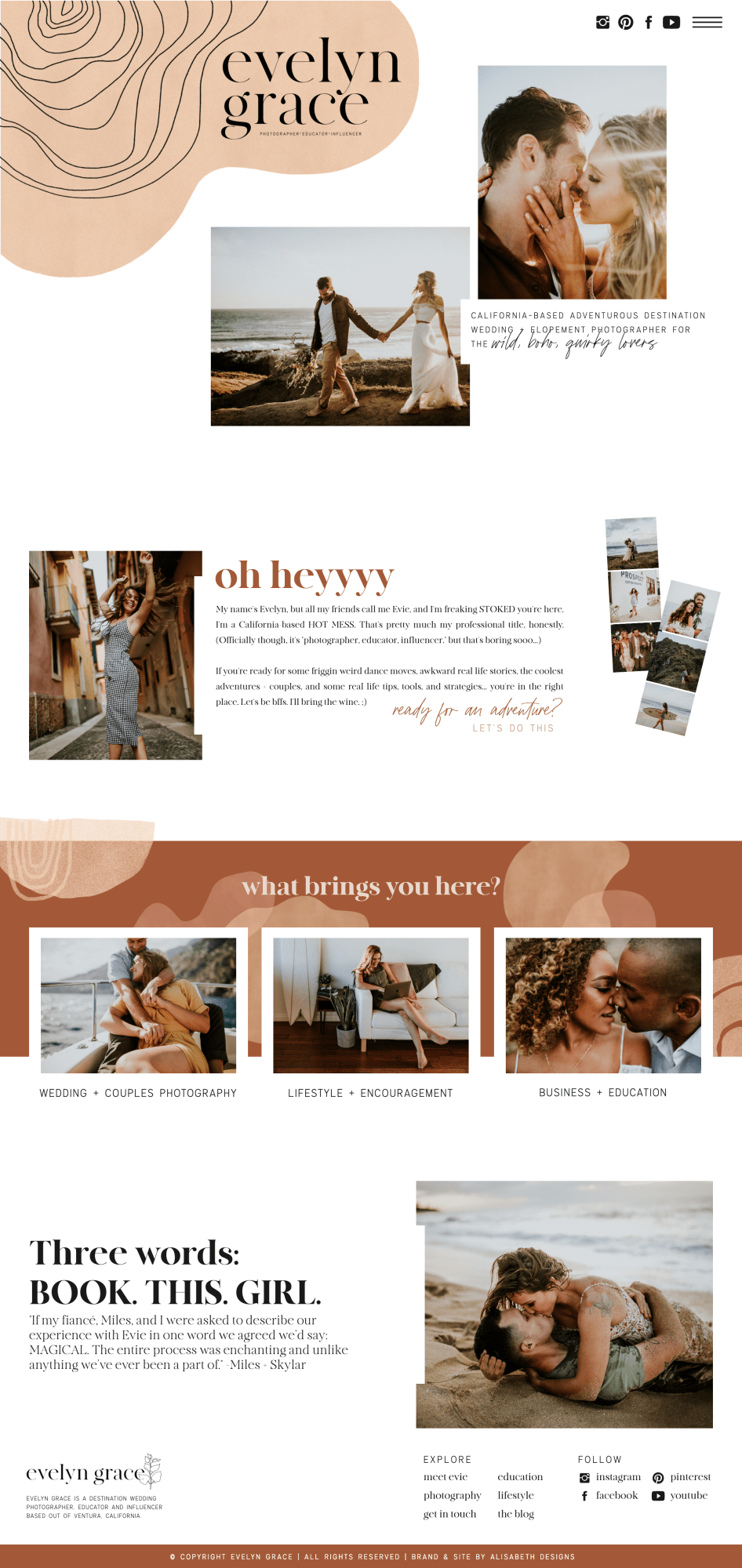 Boho Website Photography Website Design Photographer Website Web Layout Design