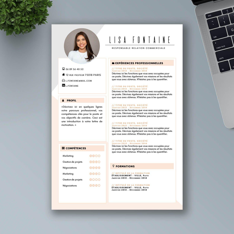 CV Design et Original à Télécharger CV Word Premium