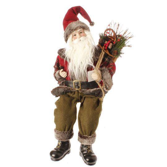 "The Jolly Christmas Shop - Raz 22"" Rustic Sitting Santa Figure 3300802, $22.99 (http://www.thejollychristmasshop.com/raz-22-rustic-sitting-santa-figure-3300802/?page_context=category"