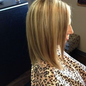 Hilight and Lowlight inverted long bob. Danielle Prater Fields at Salon Lofts Tylerville. OHIO https://www.facebook.com/pages/Danielle-Prater-Fields-at-Salon-Lofts-Tylersville/584674068217778