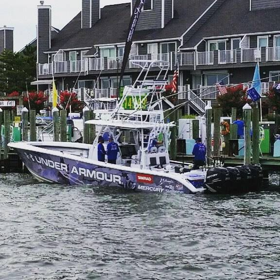 Under armour fishing team ocean city white marlin open for Under armour fishing