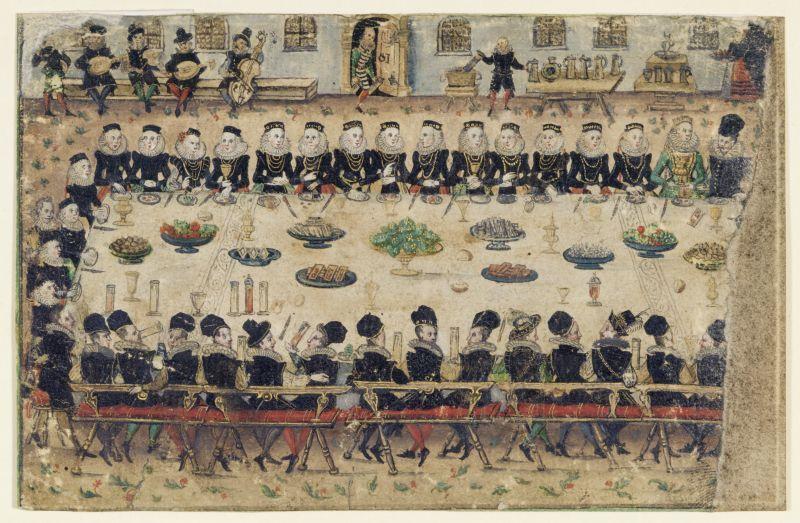 Hochzeitstafel, 1770/1780
