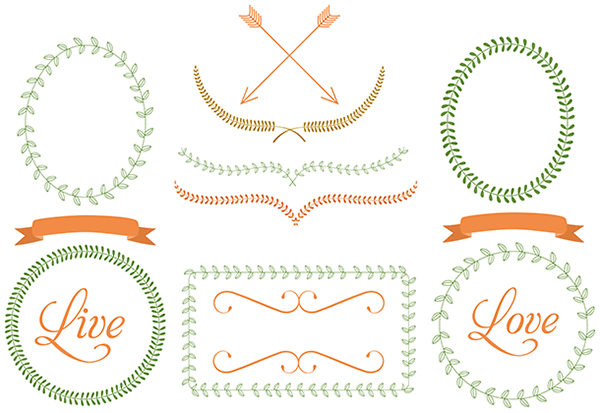 free laurel frames ribbons dividers arrows graphics free rh pinterest com free commercial use clipart public domain free commercial use clipart images