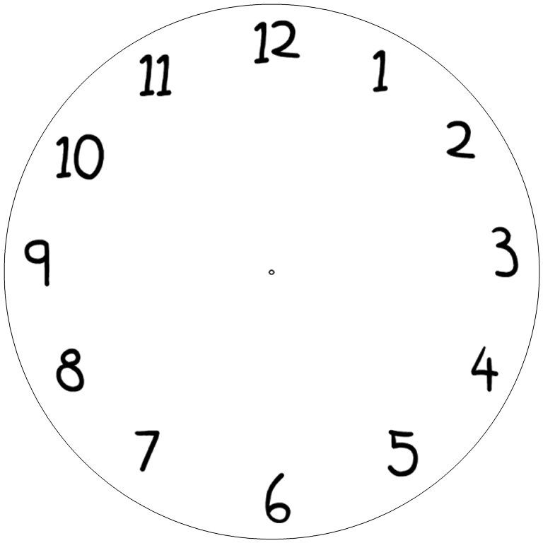 Clock template Telling Time Pinterest Face template and - clock templates