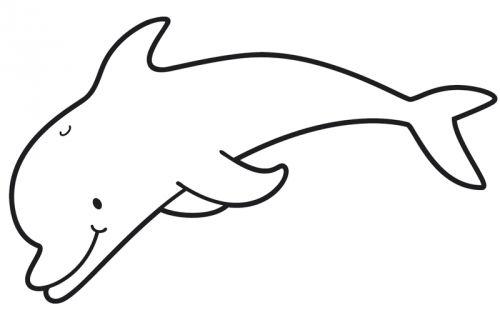 Kostenlose Malvorlage Sommer: Kostenlose Malvorlage: Delfin zum ...