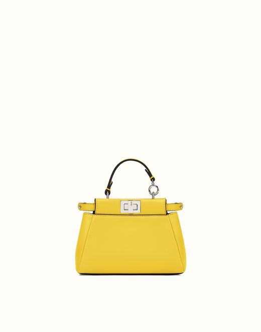 59e1fdb9 FENDI | MICRO PEEKABOO micro bag in yellow leather | Bags | Fendi ...