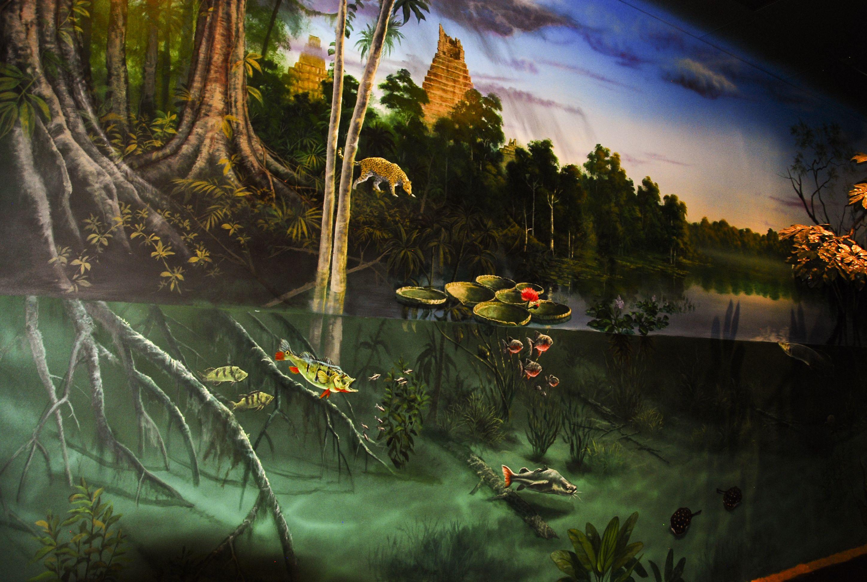 Amazon Mural Painting