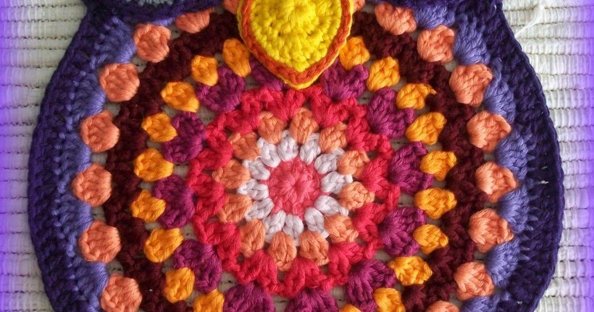 crochet owl, owl, crochet trivet, trivet, mandala | crochet ...