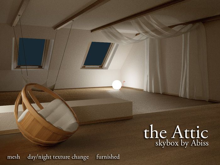 The Attic Skybox By Abiss Mesh Prefab Skybox Day And Night Build A Coffee Table Furnishings Prefab