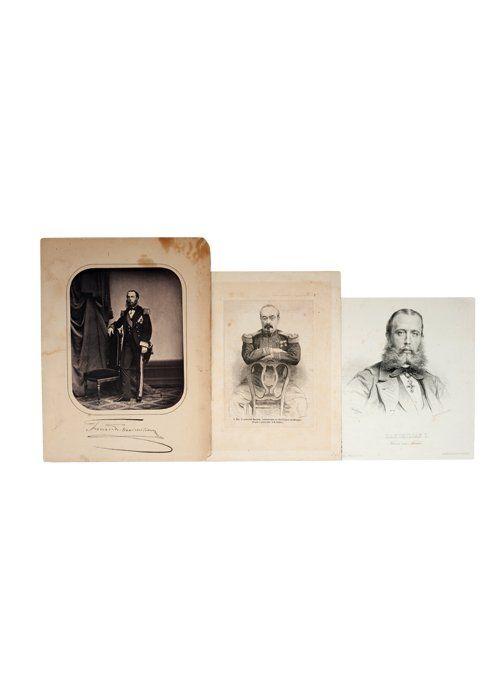 Fernado Maximiliano y Bazaine. Fotografía, Litografía y Grabado