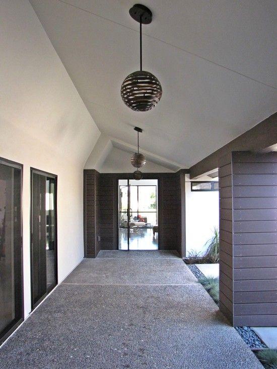 Mid century modern front doors midcentury entry basic - Mid century modern exterior lighting ...