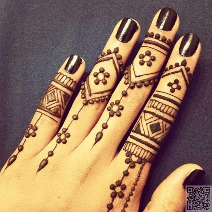 Henna Tattoo Ring Designs: Ring-mehndi-design-with-miniature-dots
