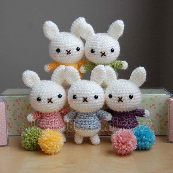 Cute crochet bunnies | Cool Amigurumi ٩(◕‿◕)۶ | Pinterest ...