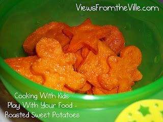 Cooking With Kids: Roasted Sweet Potato Shapes #Recipe