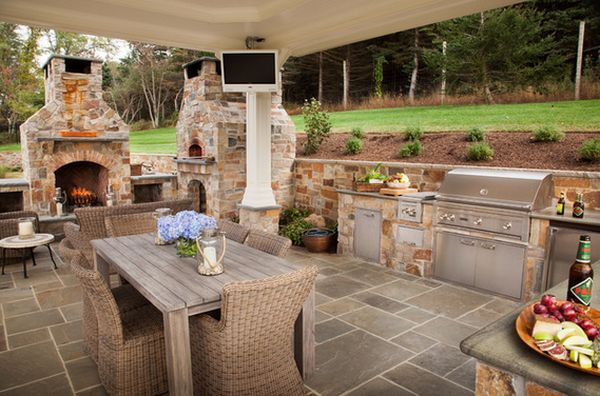 Outdoor Kitchen Designs Featuring Pizza Ovens, Fireplaces And Other