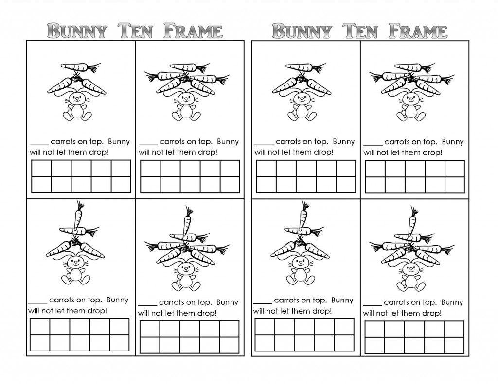 Bunny Time Ten Frame Free Printables