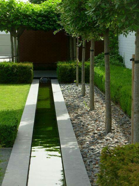 Small water feature - channeled water | Garden design ideas ...