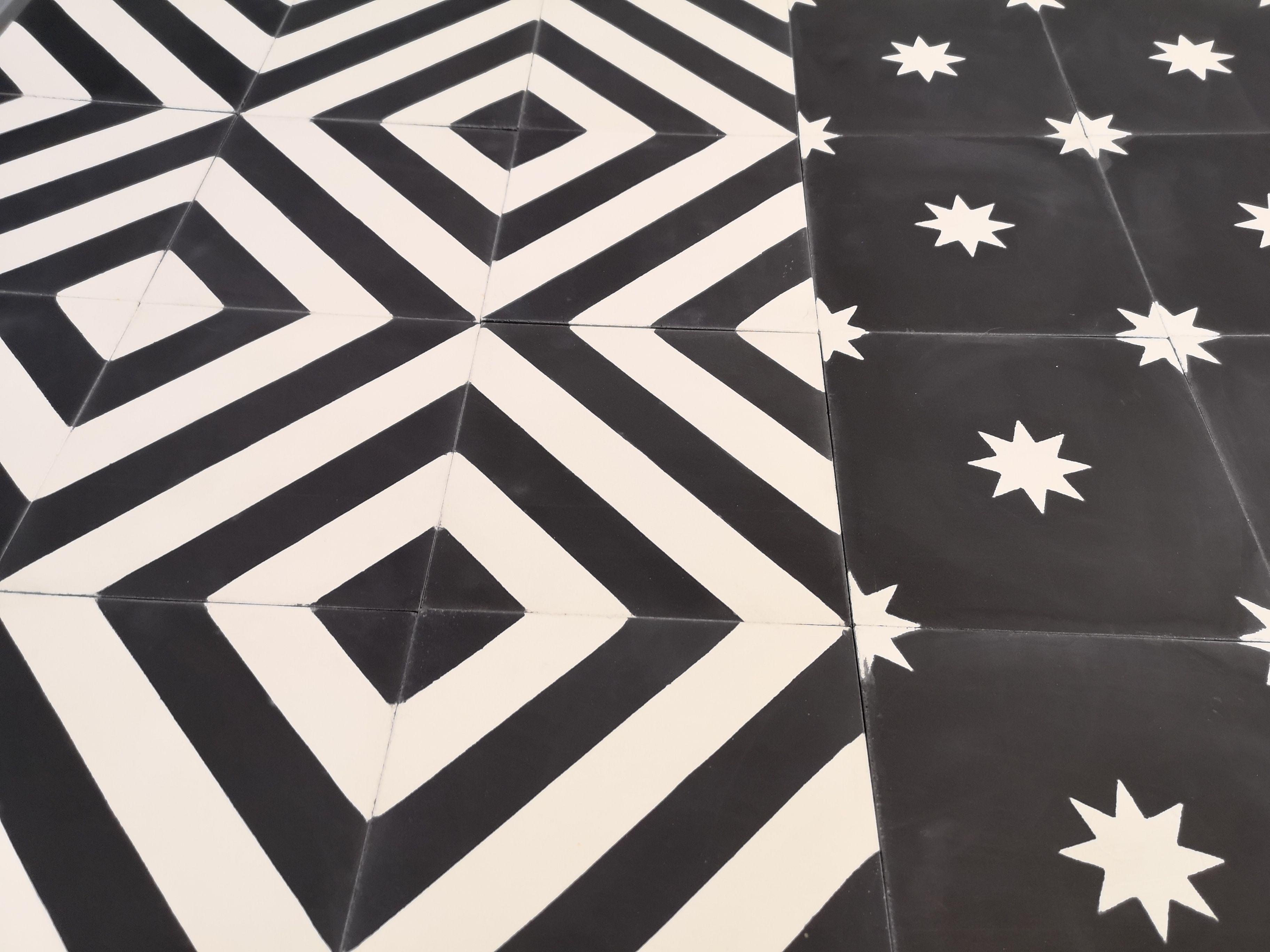 Carreaux De Ciment Noir Et Blanc Pour Donner Du Caractere A Vos