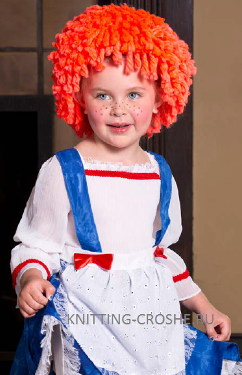 Сделать парик клоуна своими руками