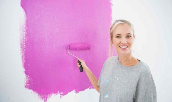 Pinke Wandfarbe - Wie können Sie Ihre Wände kreativ streichen?  - lila pinke wandfarbe wände streichen trendfarben 2014