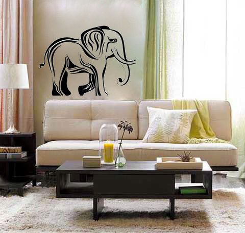 Elephant Tribal Vinyl Wall Decal Hindi Jungle Africa India