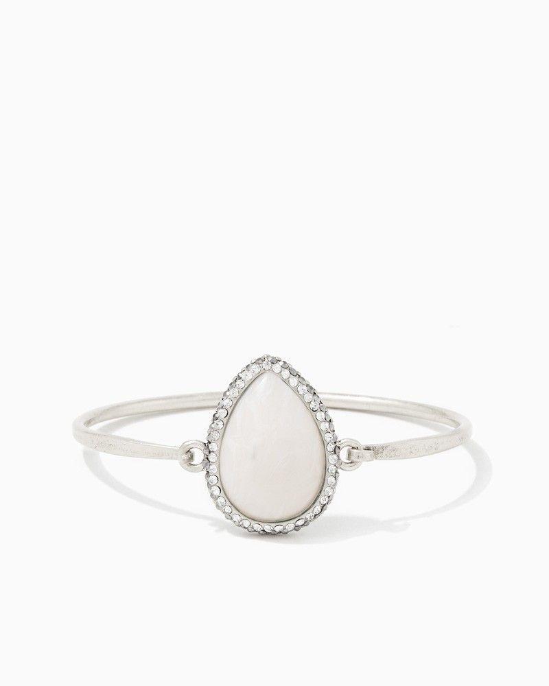 charming charlie Teardrop Stone Clasp Bracelet UPC 400000278414