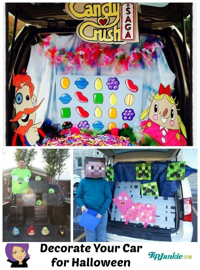 7 Trunk or Treat Ideas featuring GAME Themes TRUNK OR TREAT - decorate your car for halloween