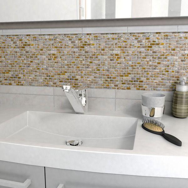 SomerTile 1175x1175 in Seashell Subway Perla Mosaic Tile Pack of