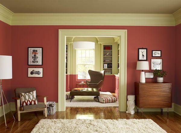 Wohnzimmer Modern Ainrichten   Rote Farbe   Wohnzimmer Streichen U2013 106  Inspirierende Ideen