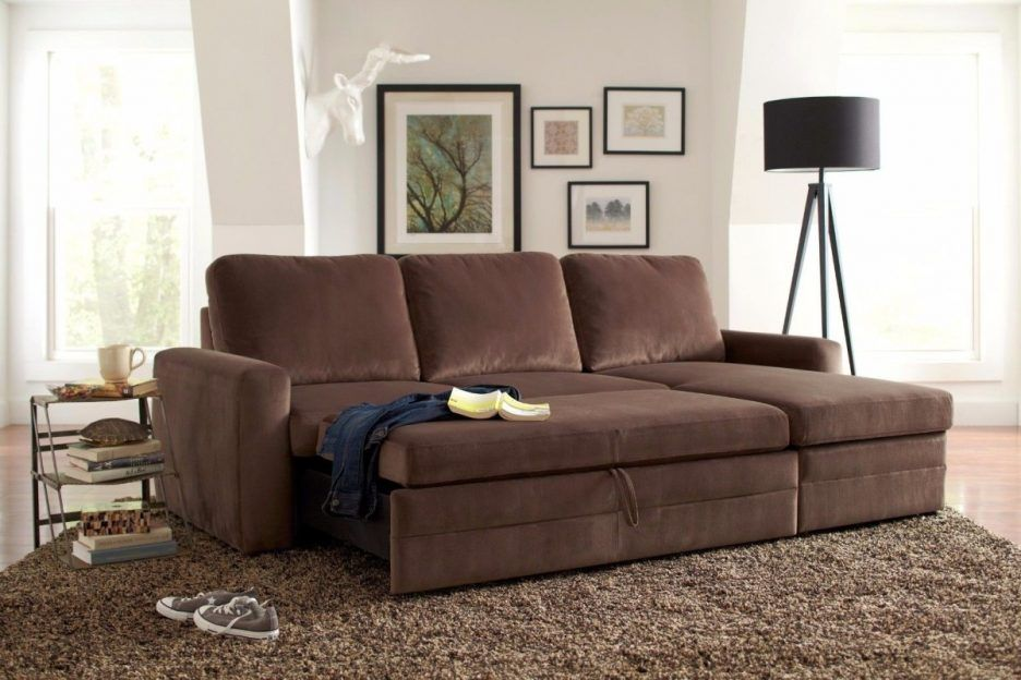 Living Room : Amazing Furniture Maximizing Small Living Room Spaces With  Brown Microfiber Sectional Sleeper Sofa