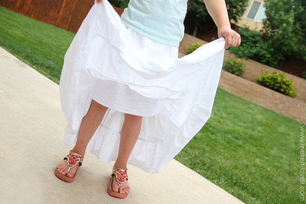 f680f3642c5 DIY Tiered Maxi Skirt...girls and womens sizing