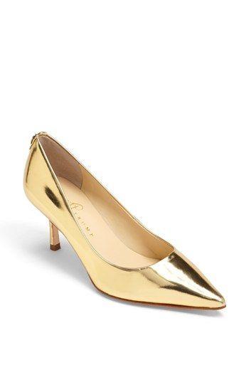 Ivanka Trump 'Indico' Pump Gold 8.5 M- Love the gold pumps...