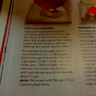 Mexican sangria from southern living magazine April 2012