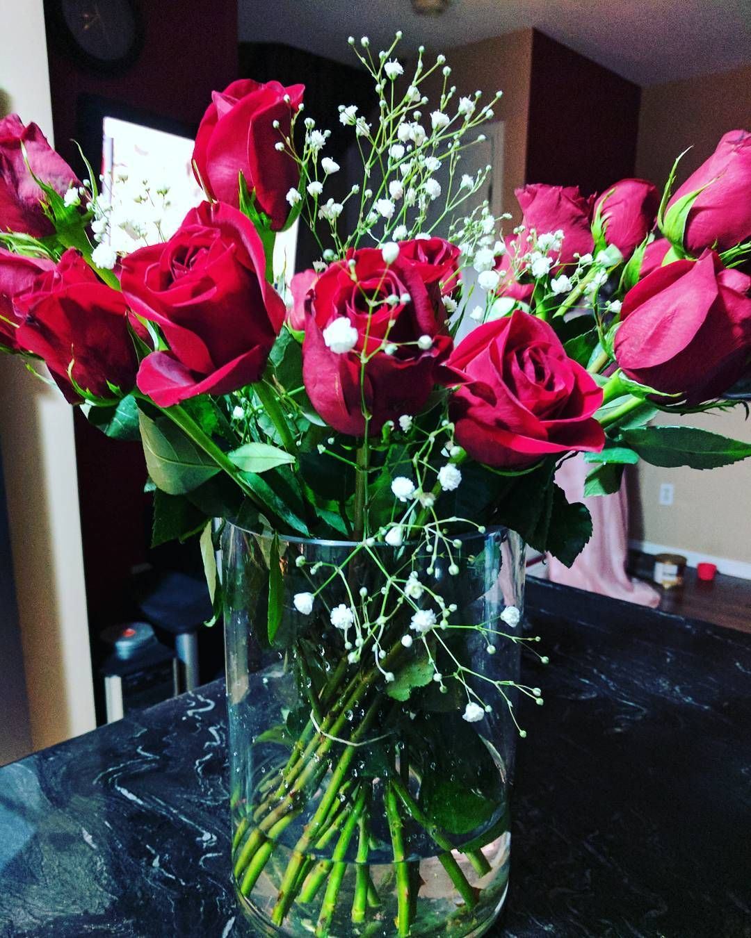Long day working today came home to a wonderful red roses