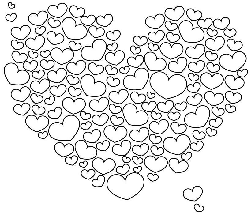 Heart Colouring In Pages Taken