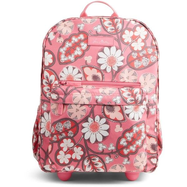 c9555b09bf89 Vera Bradley Lighten Up Rolling Backpack in Blush Pink ( 138) ❤ liked on  Polyvore featuring bags