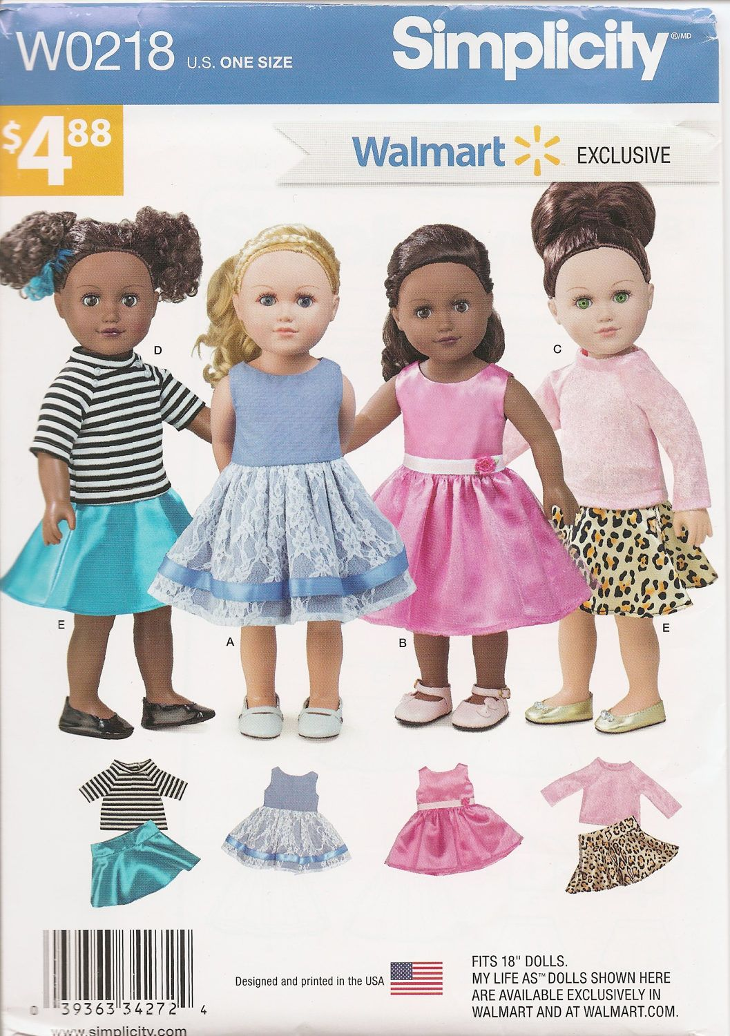 Walmart My Life As Ice Skating Doll Clothing Accessory Set Doll