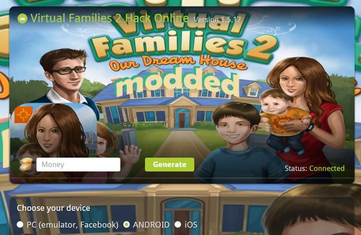 virtual families hacks for money