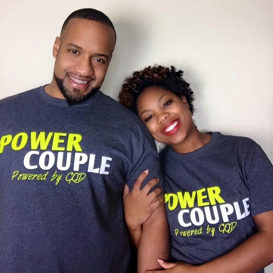 grey power couple tee