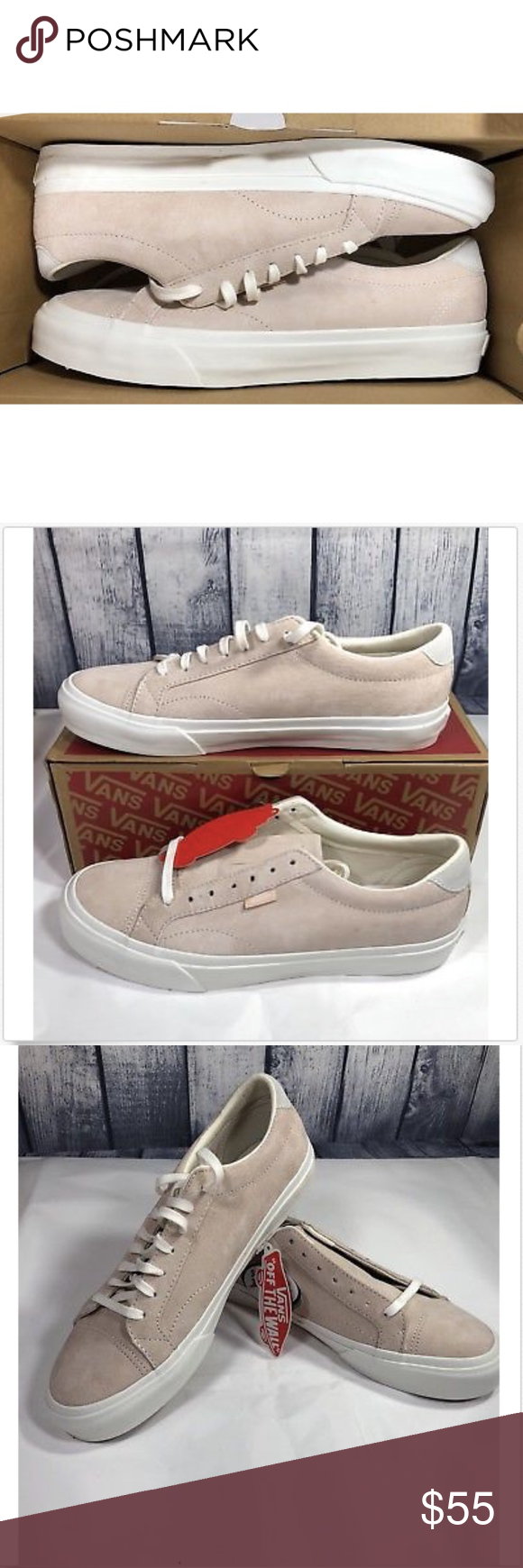 827b260cf82b Vans Court DX Pig Suede Silver Peony Shoes Vans Court DX Pig Suede Silver  Peony Shoes Size Men 8 Women 9.5 Brand New In Box Vans Shoes Athletic Shoes